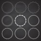 Set von 9 Kreis-Design-Rahmen