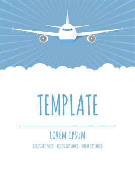 Vector travel poster template
