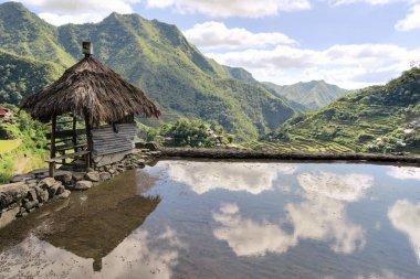 Hut at UNESCO Rice Terraces in Batad, Philippines