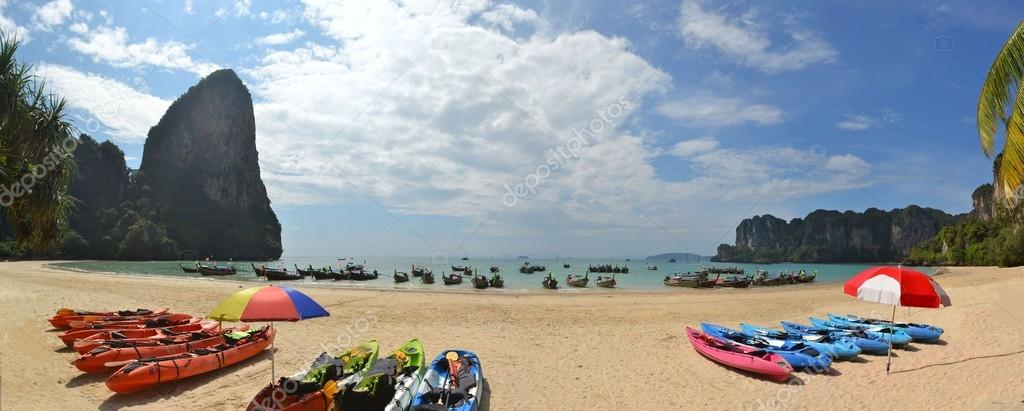 Beautiful Railay beach in Krabi Thailand