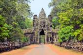 Photo South Gate to Angkor Thom ancient city, Cambodia.