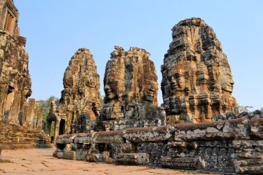 Buddha Stone faces, Bayon temple, Angkor, Cambodia