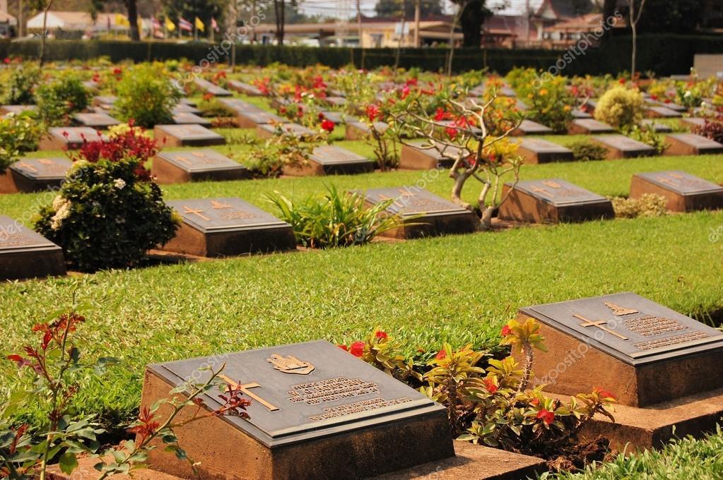 Cemetery of World War 2 casualties, Kanchanaburi, Thailand