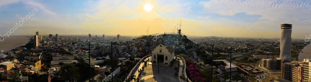 Guayaquil viewed from Santa Ana Hill, Ecuador