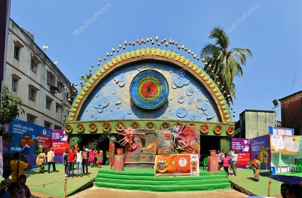 Pandal temporary temple dedicated to hindu godess durga kolkata kolkata india 11 october 2013 an unidentified pandal in the city of kolkata during durga puja festival a pandal is a temporary temple erected during thecheapjerseys Gallery