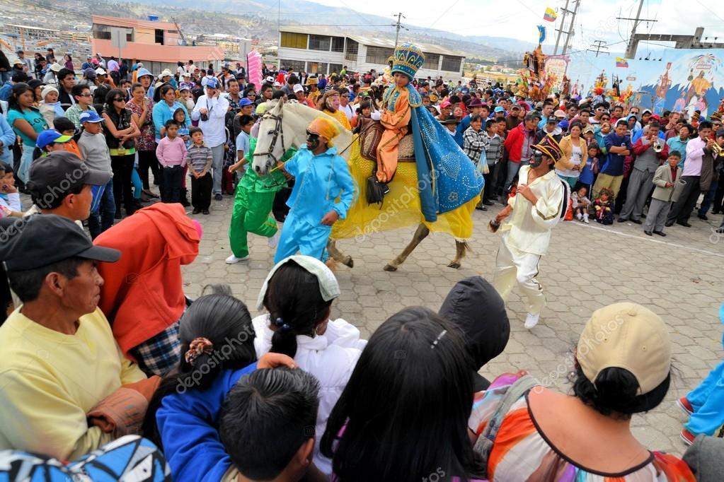 Archangel Gabriel at La Fiesta de la Mama Negra traditional festival