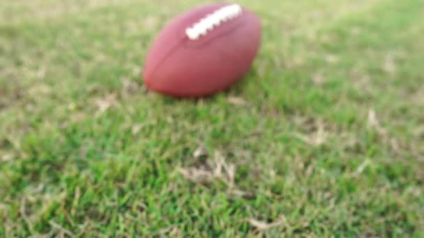 Footage Slow Motion: American football on artificial turf