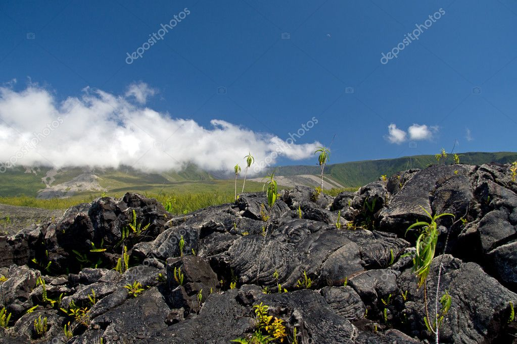 Lava Eruption at La Fournaise on Reunion island
