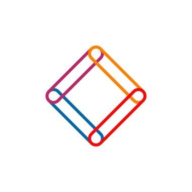 Rhombus shape icon logo design vector template icon