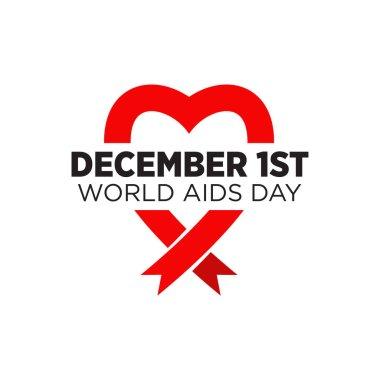 World aids logo design vector template icon