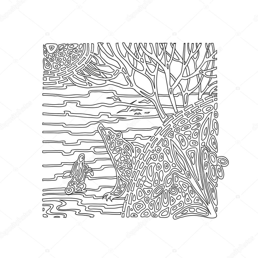 Malvorlagen Frühling im Wald — Stockvektor © rakushka13sell #117582850