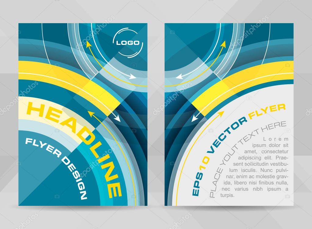 Flyer Template A4 Size Brochure Corporate Banner Or Cover Design