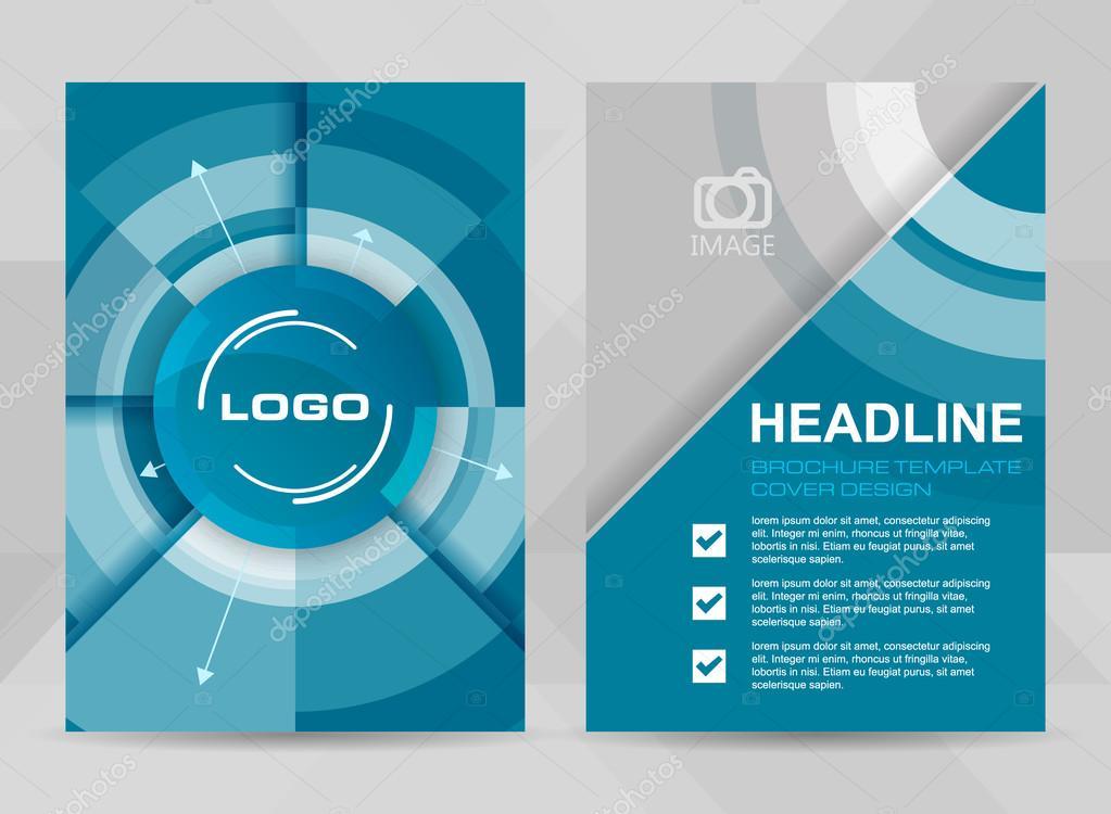 modèle de flyer format a4 brochure bannière corporative ou