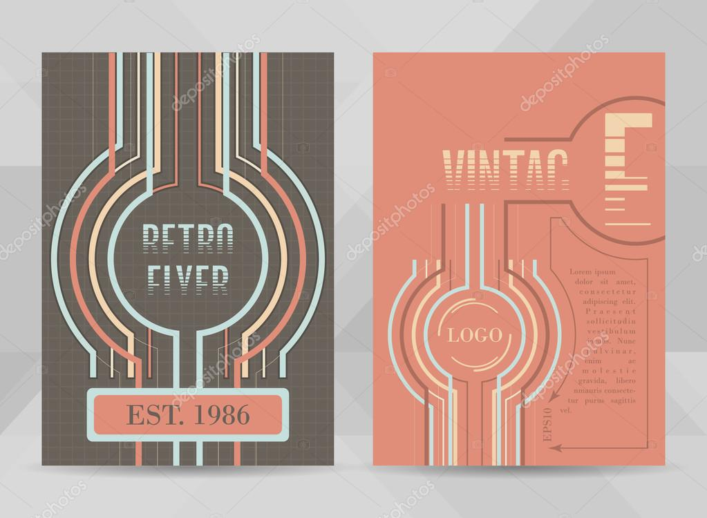 Retro Flyer Template A Size Business Brochure Cover Design Or
