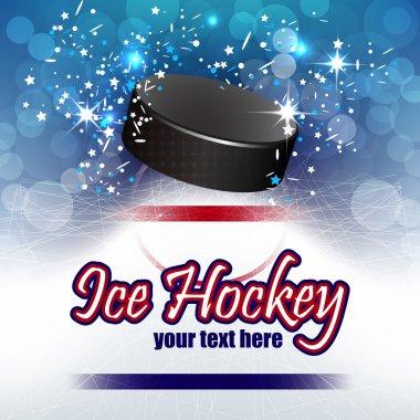 Ice hockey vector background