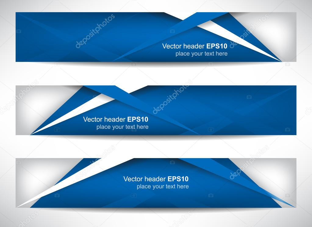 Web header or banner with precise dimension Stock Vector