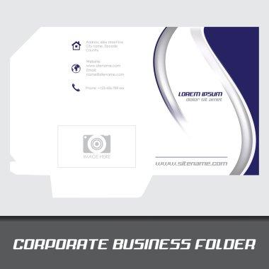 Corporate business folder, stationery template design
