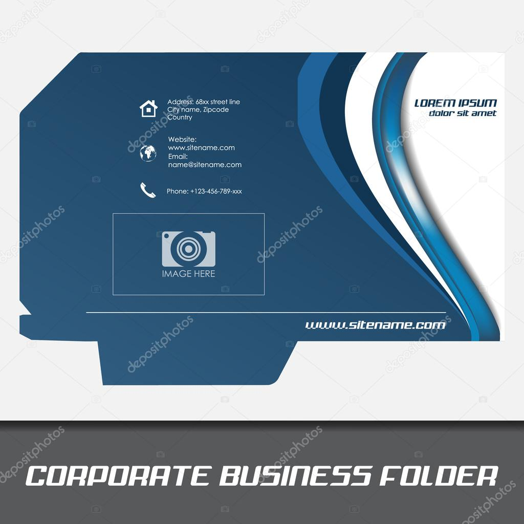 Corporate business folder template document folder stock vector corporate business folder template document folder stock vector wajeb Image collections