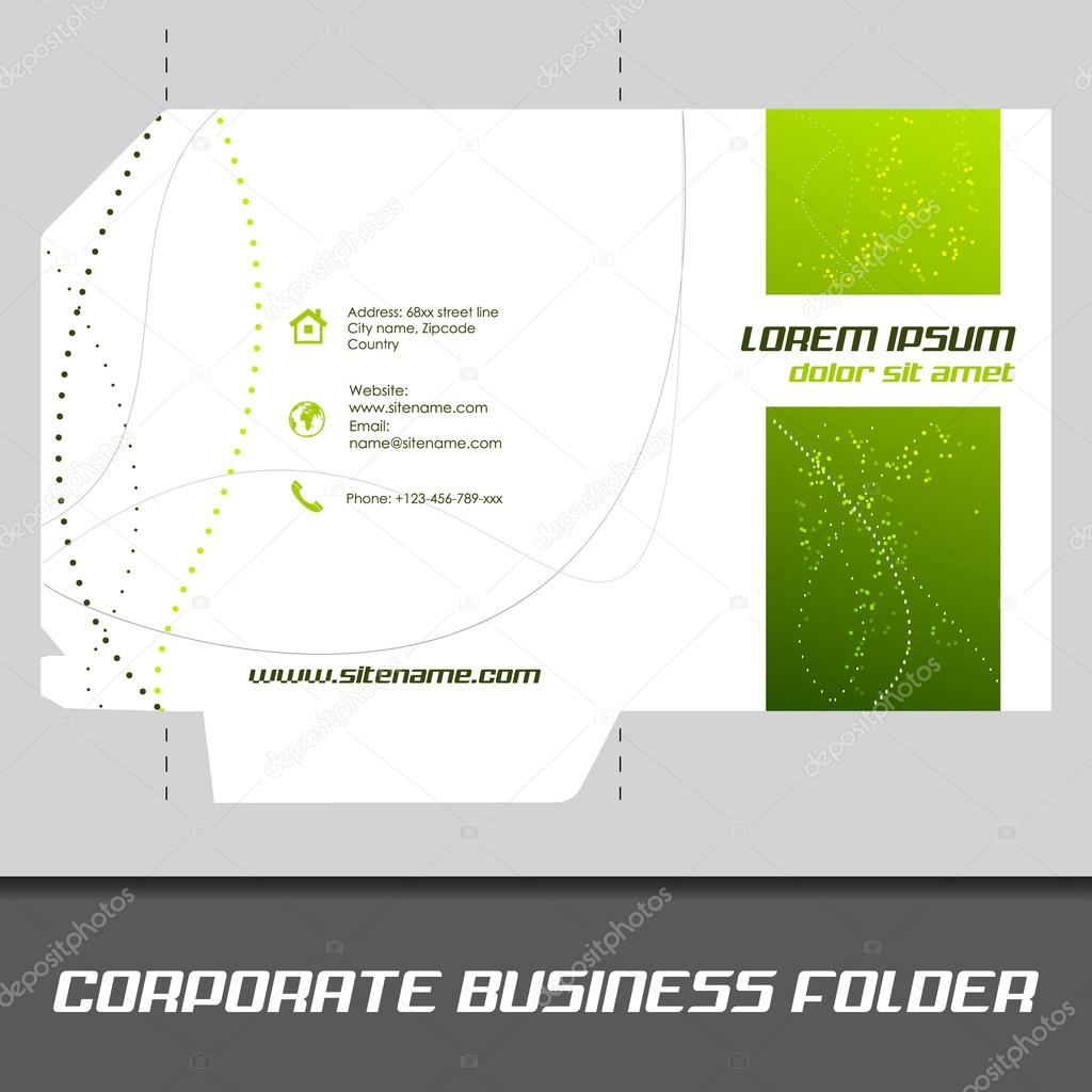Corporate business folder or document folder template stock vector corporate business folder or document folder template stock vector wajeb