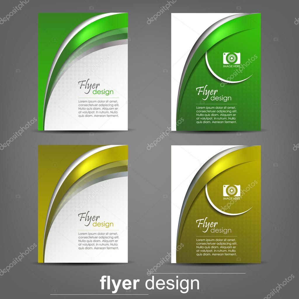 Set of business flyer template for cover design, document folder ...