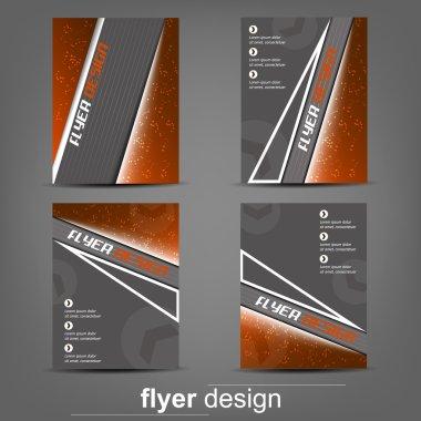 Set of business flyer template for cover design, document folder or brochure