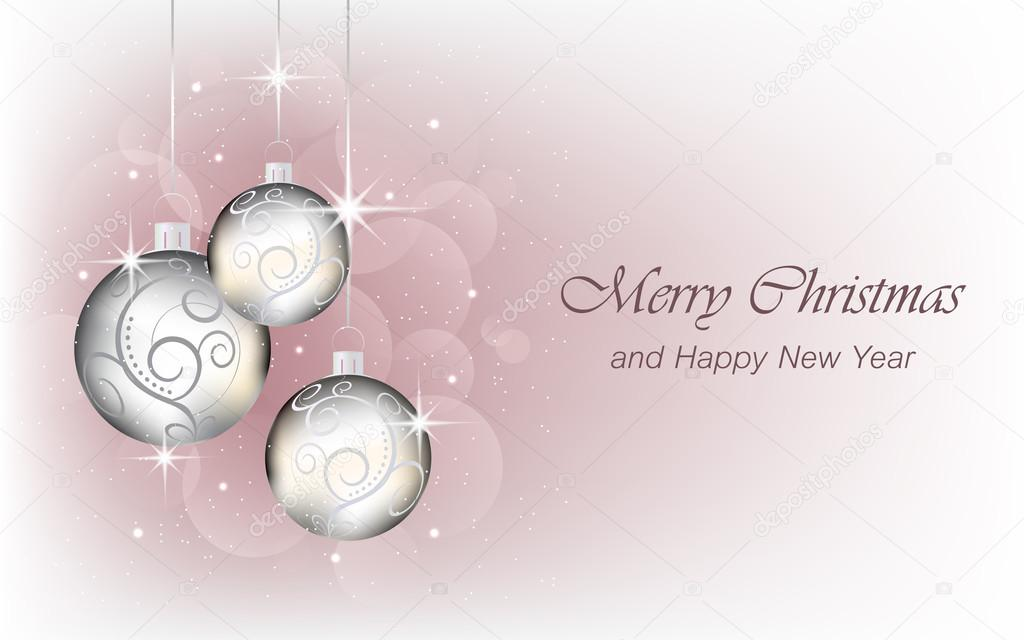 christmas and new year background wallpaper for greeting card stock vector