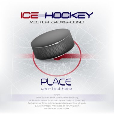 Ice hockey background with puck