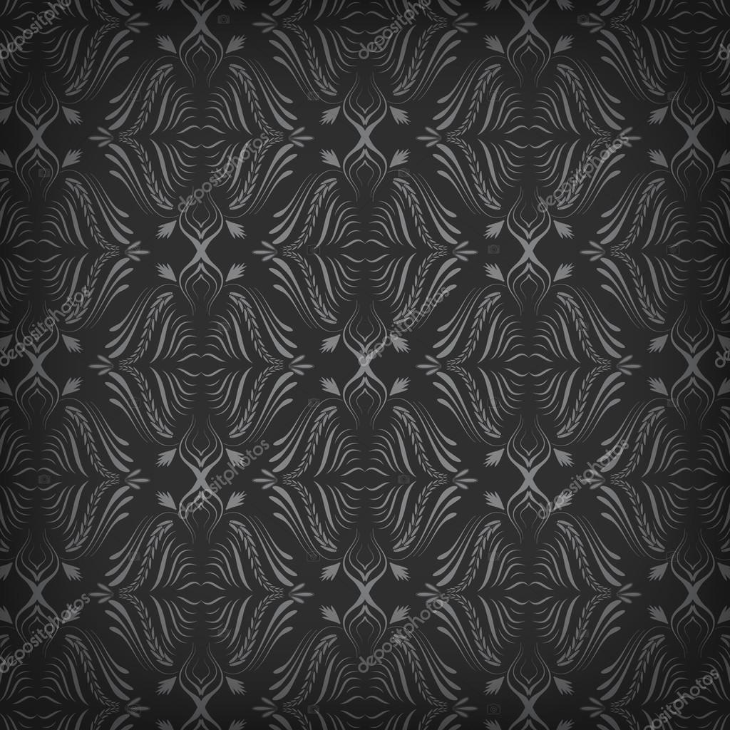 Dunkle Tapete Mit Nahtloser Muster Stockvektor Ftotti 72838517