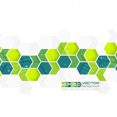 Abstract background, pattern with arrows and hexagons