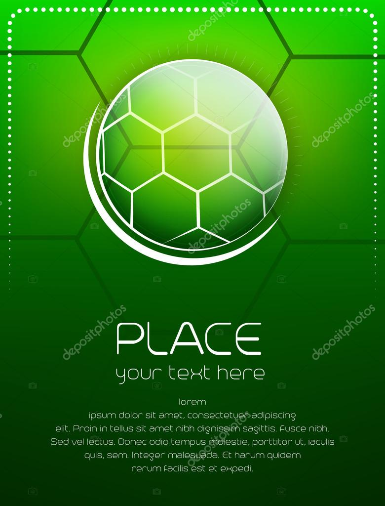 Depositphotos Stock Illustration Soccer Background With Ball And Poster Tournament