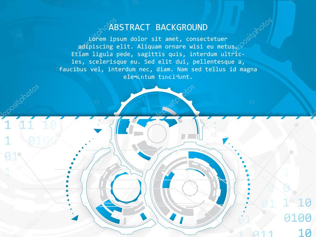 Technology Vector Abstract Illustration With Circuit Board And Gear Background Place For Text Wheels On A White Design Your Creative Editing