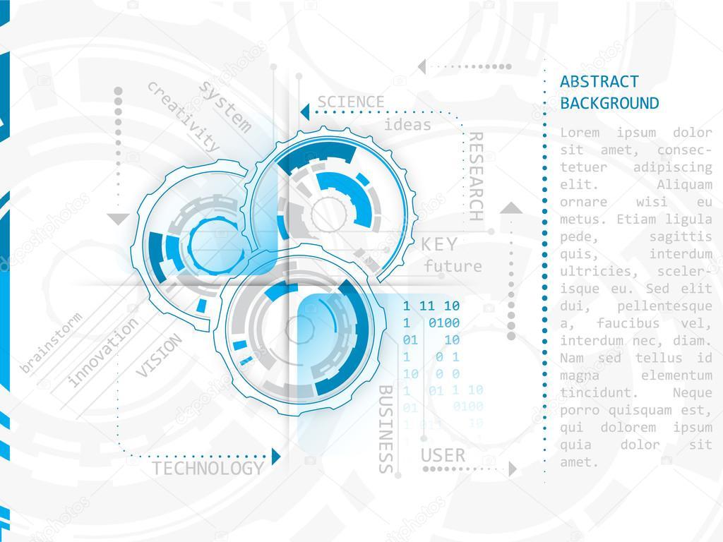 Resumen tecnología marchas de fondo, ilustración vectorial — Vector ...