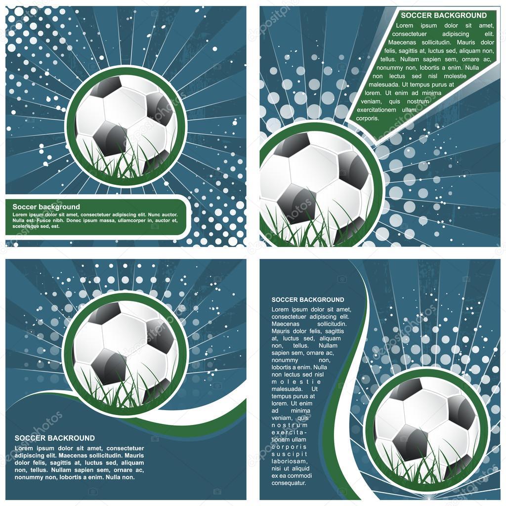 Set Of Soccer Poster Template Design Stock Vector