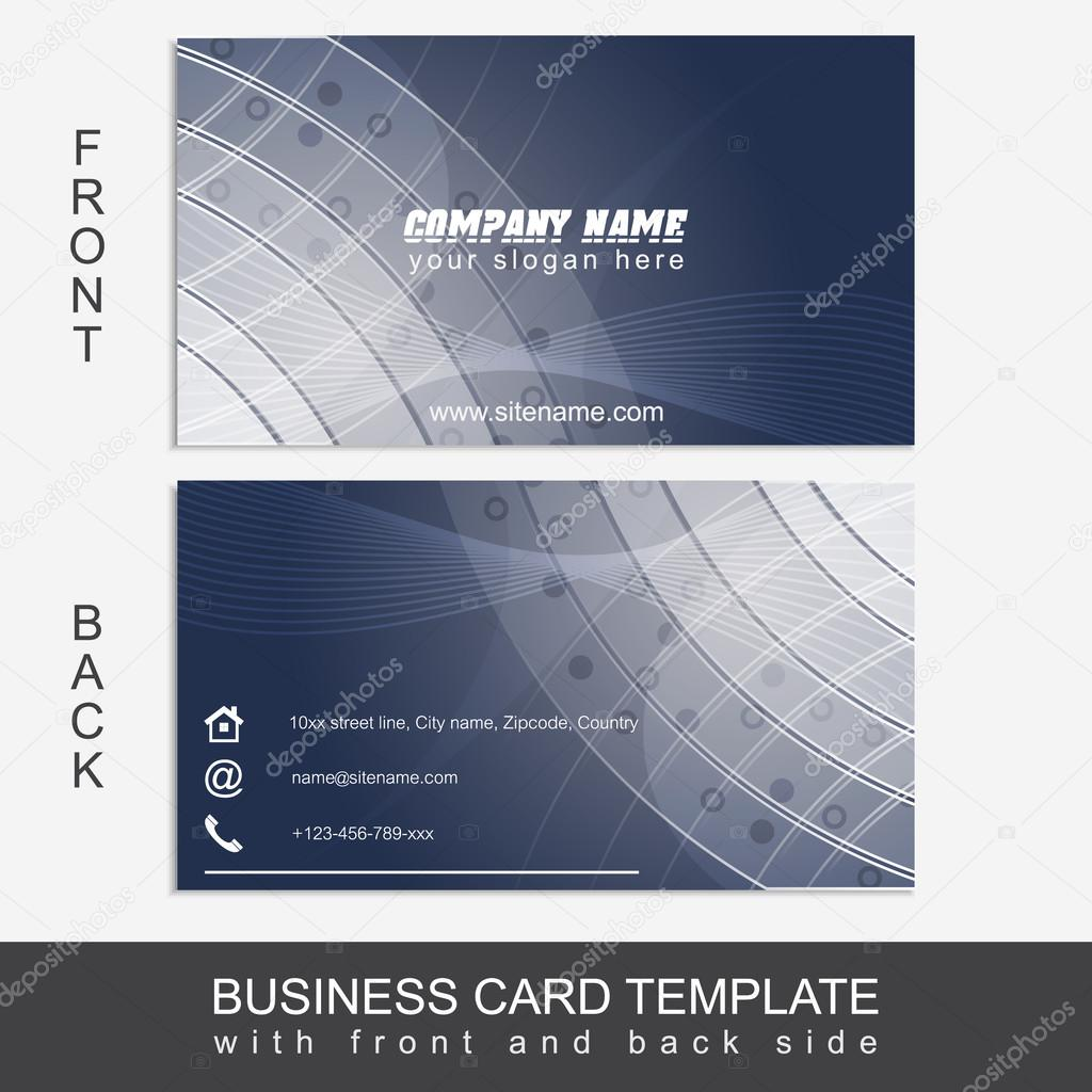 Modele Abstrait Business Card Ou Carte De Visite Ensemble Design Dedition Impression Et Presentation Du Travail Conception Vectoriels Editables