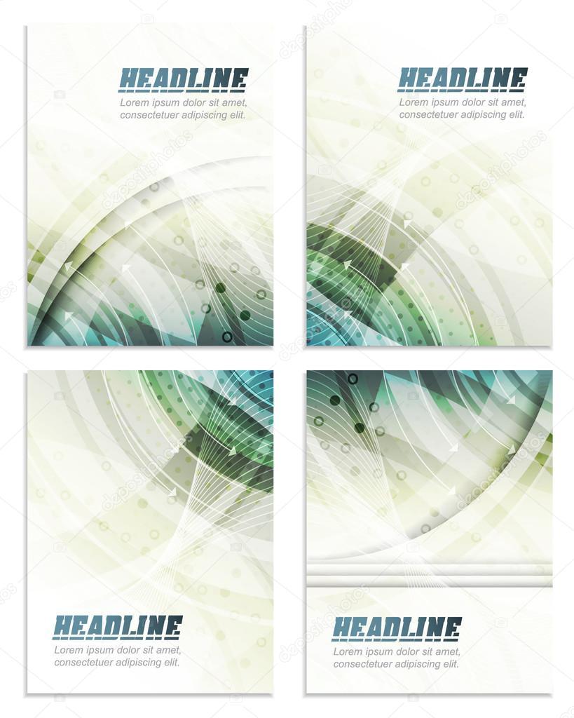 Ensemble De Business Modèle De Dépliant Brochure Design De