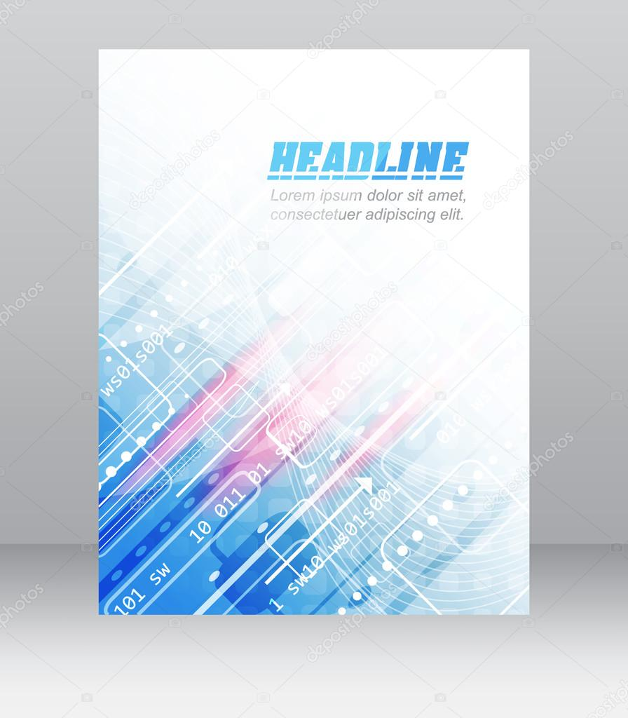 abstrakte flyer oder abdeckung design mit technologischen muster fr ihre firmenprsentation oder publishing vektor illustration vektor von ftotti - Firmenprasentation Muster