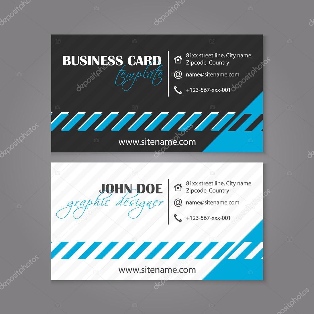tarjetas de presentacion elegantes para editar diseño de vector