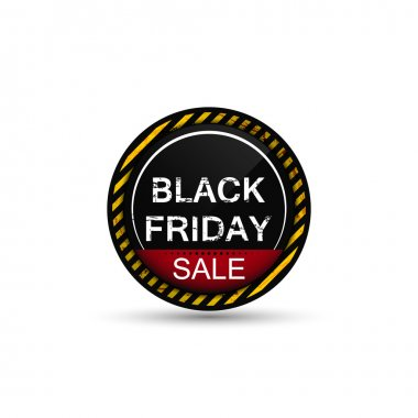 Black friday sale round icon