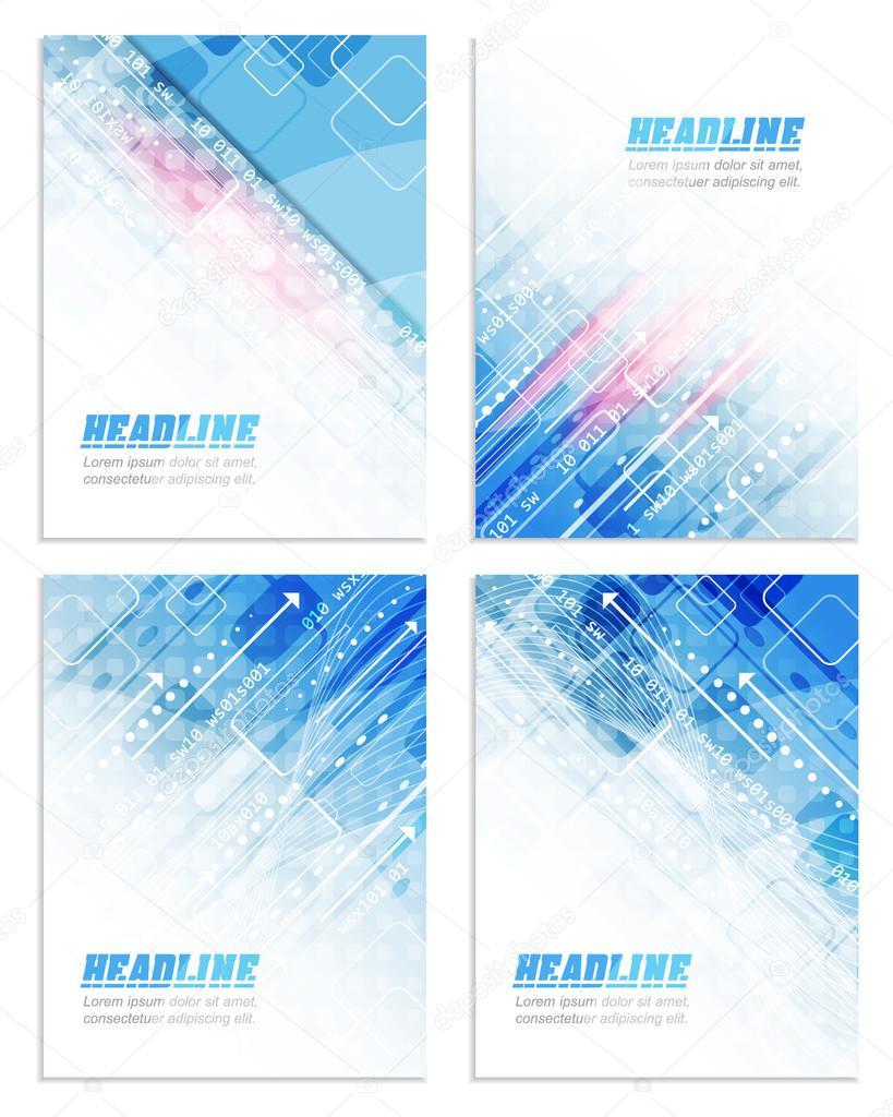 satz von abstrakten flyer oder abdeckung design mit technologischen muster fr ihre firmenprsentation drucken oder - Firmenprasentation Muster