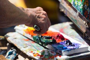 """Картина, постер, плакат, фотообои """"художник и живопись постеры портрет ретр москва"""", артикул 72021395"""