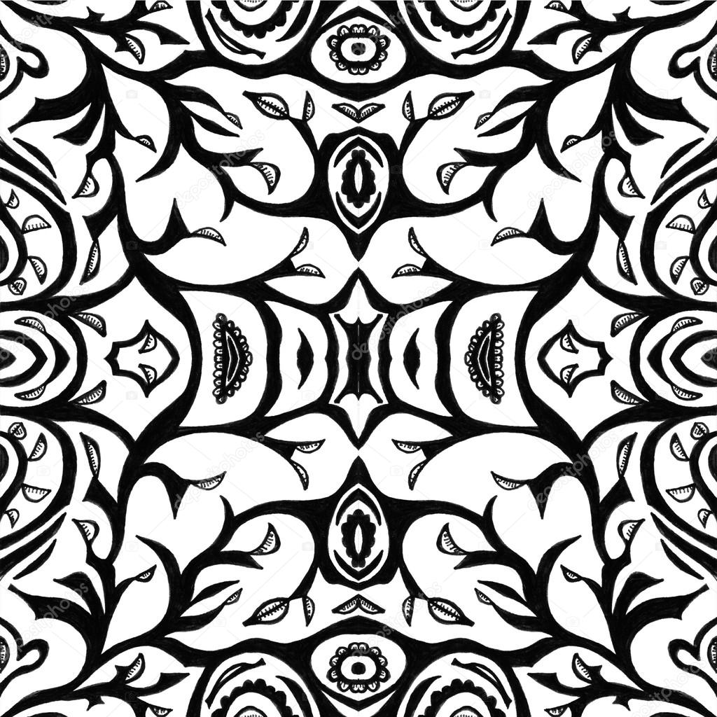 Unique abstract pattern made with unique drawings and sketches stock photo