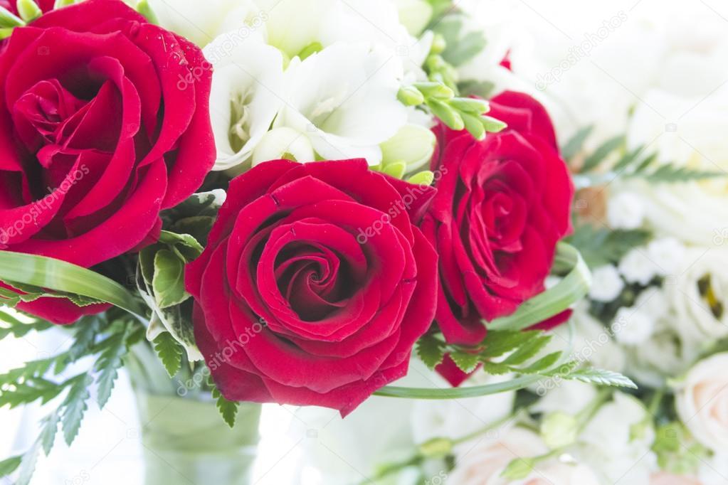 Floral arrangement in a wedding bouquet