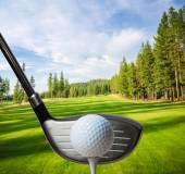 Golf club se trefit golfový míček