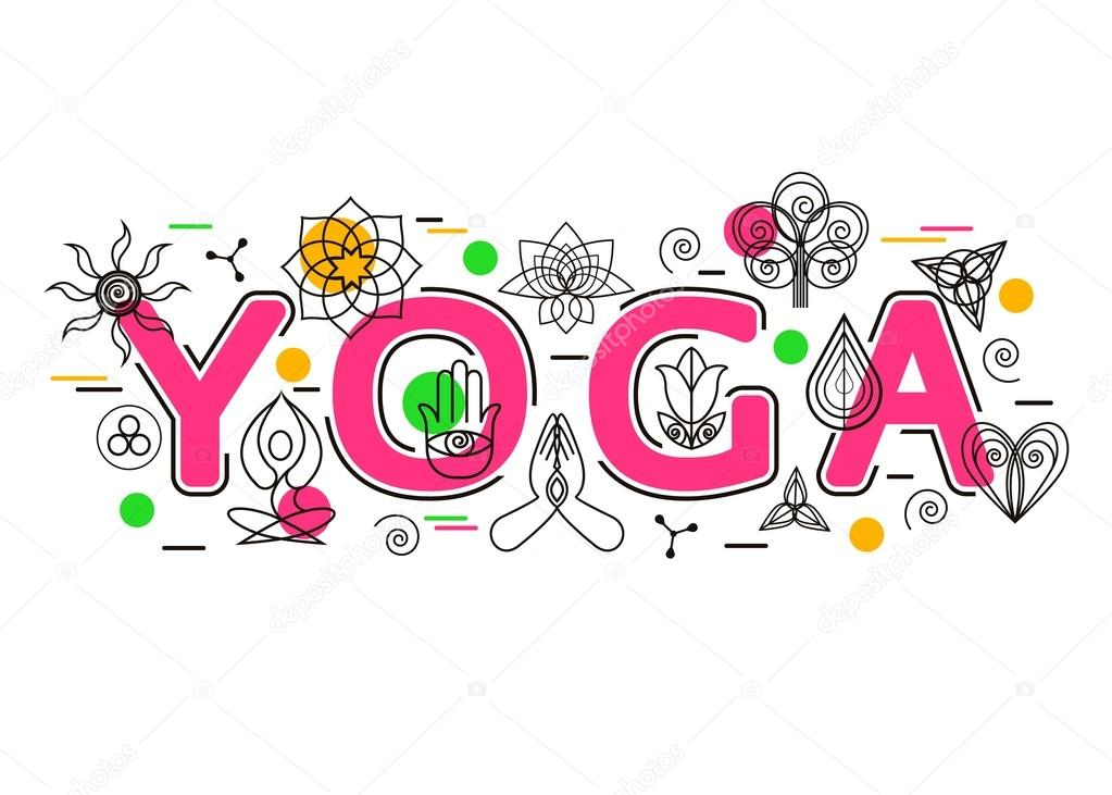 Yoga Banner Template For Studio Website Header Advertising Booklet And Poster Icons Design Elements Symbol