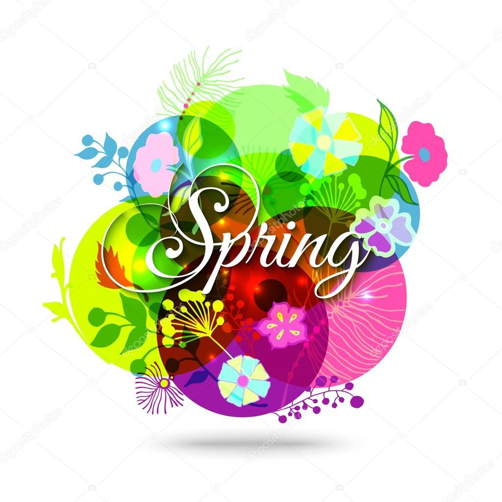 Colorful Abstract Flower Background Spring Floral