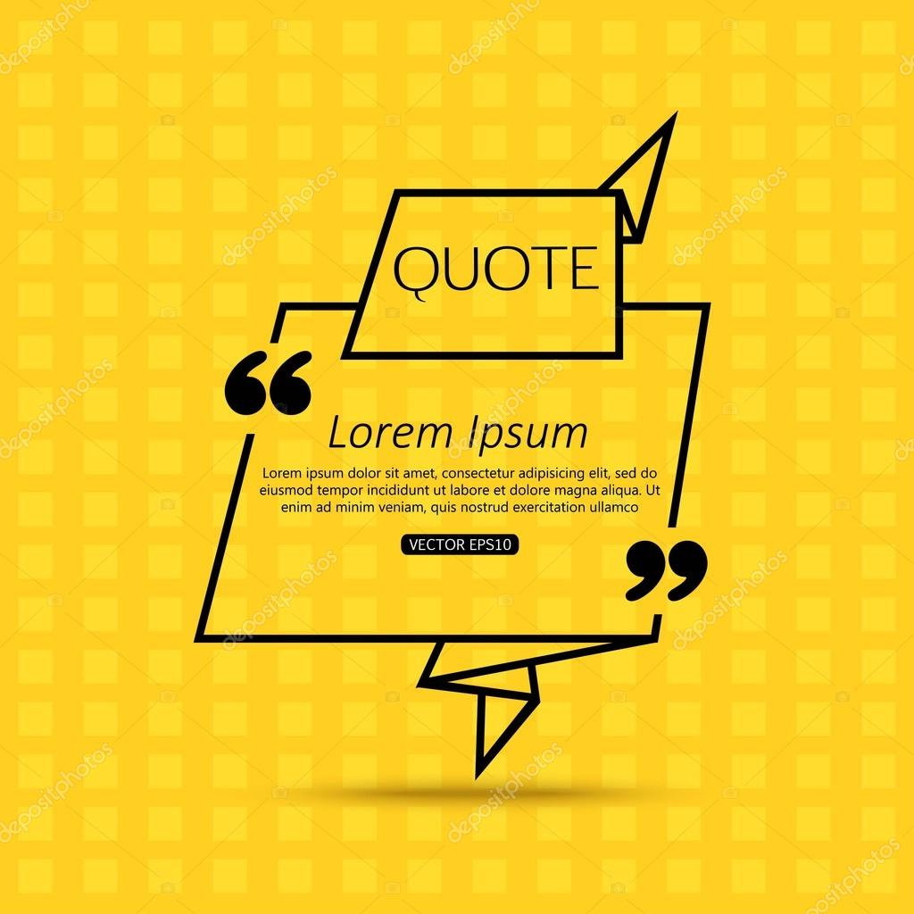 quote template for social networking business newspaper magazine