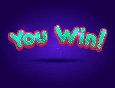 Big Win background for online casino, poker, roulette, slot machines, card games. Vector illustrator.