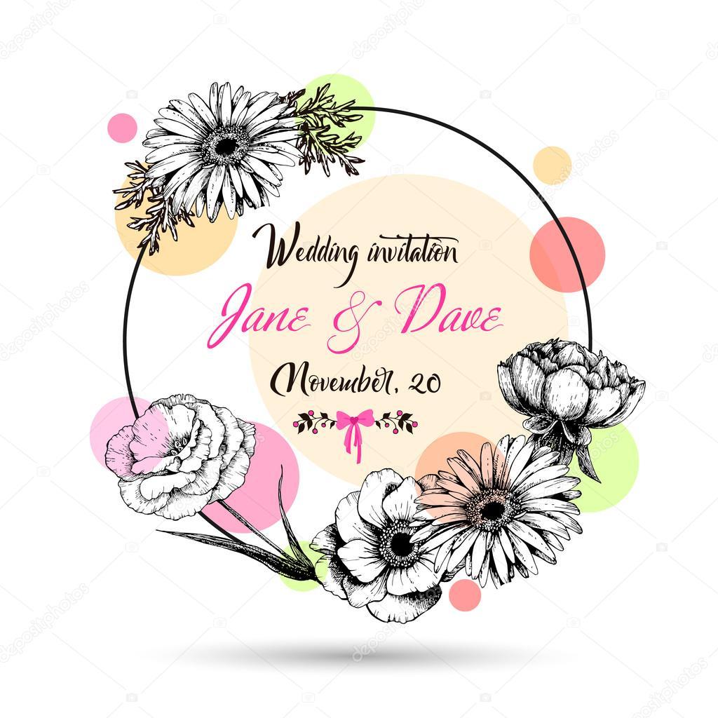 Свадебные открытки нарисованные