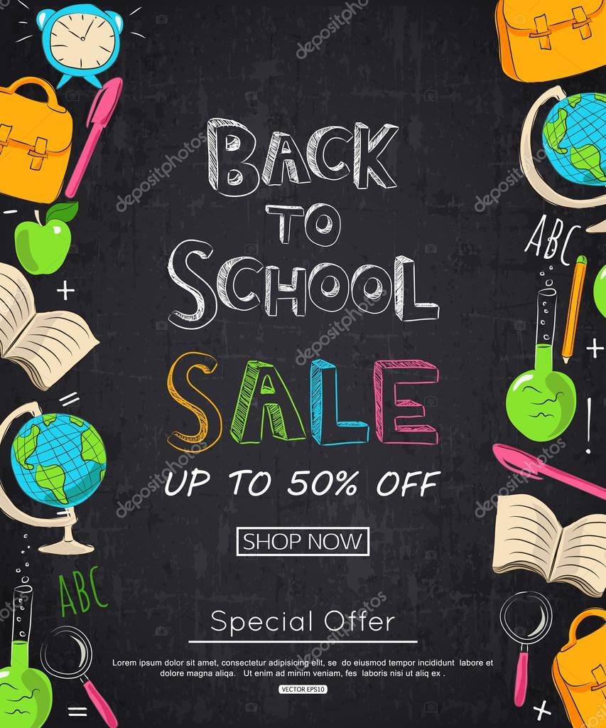 Zpátky do školy prodej nápis — Stockový vektor · Back to school sale  banner a851bb1602