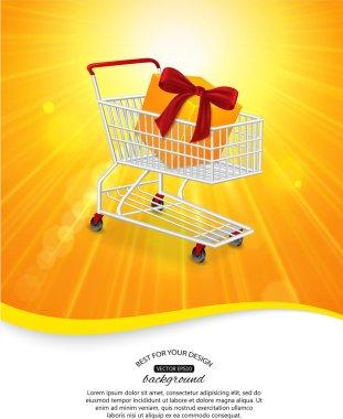 Summer sale shining background